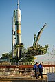 Soyuz TMA-22 (Expedition 29) post-rollout in Baikonur.jpg