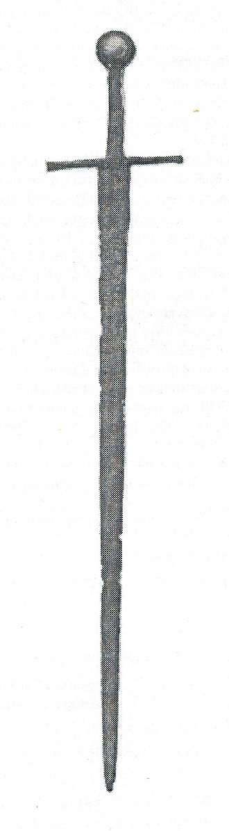 Šubić - The sword of Paulus de Breberio (Paul I Šubić of Bribir)