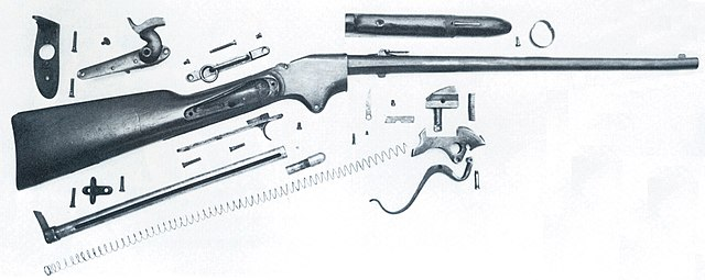 File:Spencer carbine disassembled jpg - Wikimedia Commons