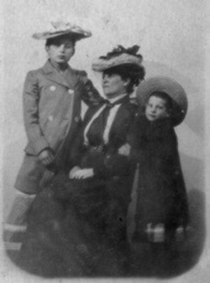 Sabina Spielrein - Sabina Spielrein as child (left), with her mother and sister.
