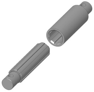 Spline (mechanical) - Detail of a spline joint