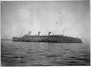 QSMV Dominion Monarch - Image: Ss Queen Mary FL10021
