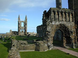 History of Christianity in Scotland - The ruins of the Cathedral of St Andrew in St Andrews, Fife