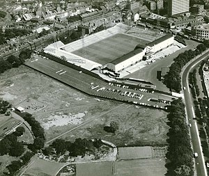 St James' Park - An aerial view of the stadium in 1963