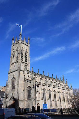 Church of St John the Evangelist, Edinburgh - St John's, seen from Lothian Road