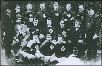 Manchester City F.C. - St. Marks (Gorton) in 1884 – the reason for the cross pattée on the shirts is now unknown