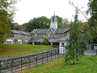Holker Hall - Former stable block, now a gift shop and café
