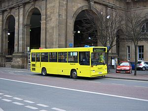 QuayLink - Stagecoach North East QuayLink Plaxton Pointer bodied Dennis Dart in Newcastle upon Tyne in March 2009