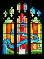 Stained Glass Window in the Chapel of Goodrich Castle - geograph.org.uk - 88164.jpg