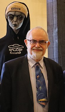 Stanton T. Friedman at Alien Snowfest 2019 in Big Bear, CA.jpg