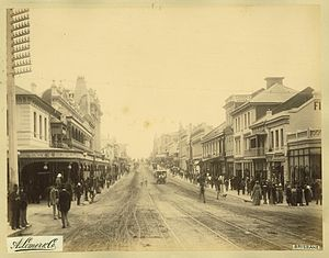 Queen Street, Brisbane - Queen Street in 1889