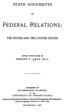 State Documents on Federal Relations.djvu