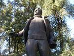 Statue of Valery Chkalov in Dnipropetrovsk 06.JPG