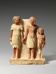 Statue of two men and a boy that served as a domestic icon MET DP206147.jpg