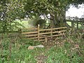 Stile along the footpath to Pentre-clawdd - geograph.org.uk - 1027735.jpg