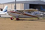 Stinson 108-2 Voyager (VH-RDR) parked in the general aviation area at Wagga Wagga Airport.jpg