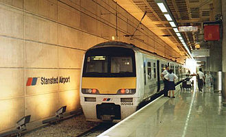 British Rail Class 322 - An original Class 322 at Stansted Airport