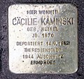 Stolperstein Danckelmannstr 33 (Charl) Cäcilie Kaminski.jpg
