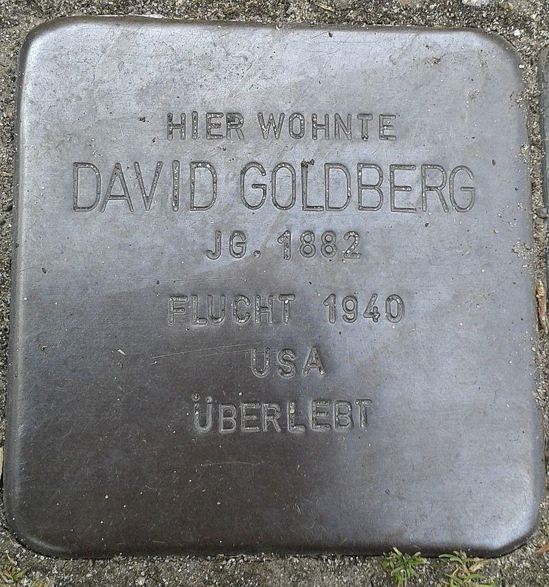 Stolperstein Datteln Carl-Gastreich-Straße 5 David Goldberg