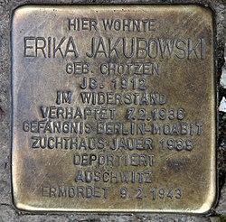 Photo of Erika Jakubowski brass plaque