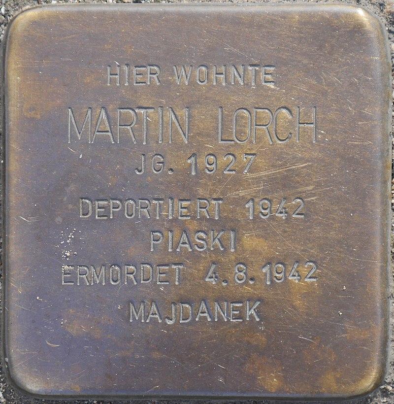 Stolperstein für Martin Lorch