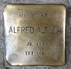 Photo of Afred Altona brass plaque