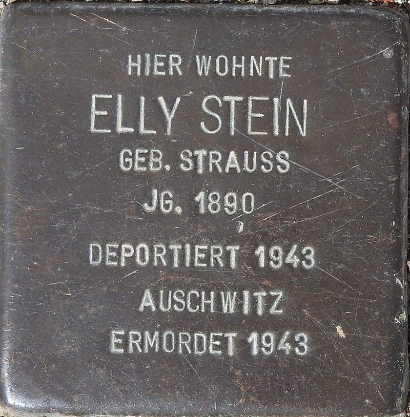 Stolperstein Talstraße 14, Bleicherode (Elly Stein).jpg