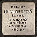 Stolperstein für Dr. Rezsö Vidor.JPG