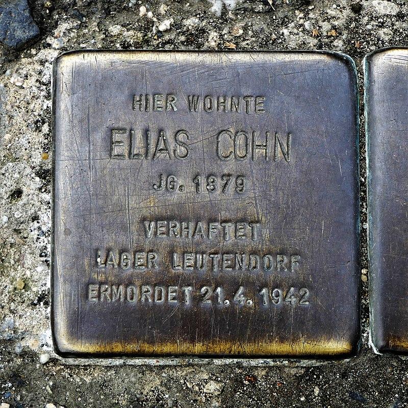 Stolperstein für Elias Cohn, Külzufer 16, Zittau.JPG