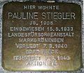 Stolperstein in Marbach am Neckar Pauline Stiegler.jpg