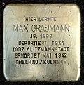 Stumbling block for Max Graumann (Schaurtestrasse 1)