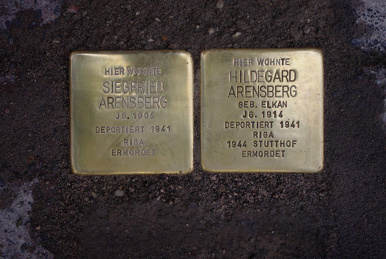 Stolpersteine Unna Gerhart-Hauptmann-Strasse IMGP3066.jpg