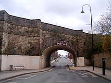 Store Street Aqueduct at Store Street level Store Street Aqueduct.jpg