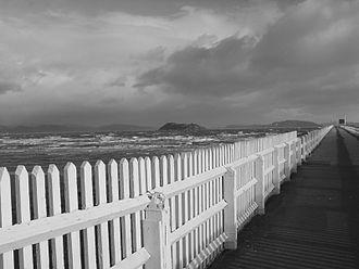 Petone - Petone Wharf on a stormy day
