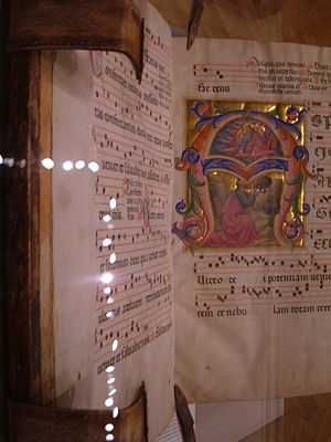 An antiphonary from the first Sunday of Advent...