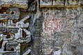 Structure 2, rests of painted glyphs; chicanna.jpg
