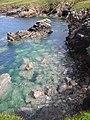 Submerged rocks at Gob Hunasgeir - geograph.org.uk - 1363336.jpg