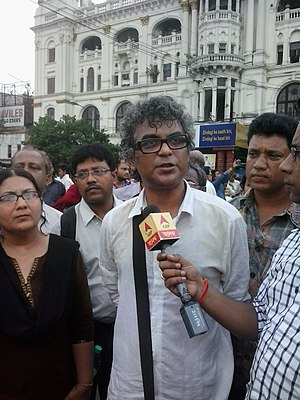 Suman Mukhopadhyay - Suman Mukhopadhyay in a rally of intellectuals against Kamduni Murder Case