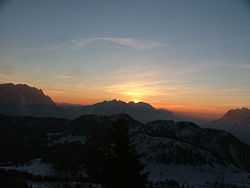 Sunrise in Cadore. ITA 2007