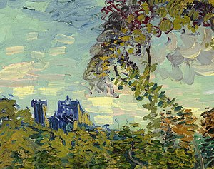 Sunset at Montmajour - Image: Sunset at Montmajour detail