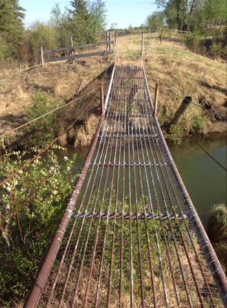 North Raven River - Suspension bridge over the river