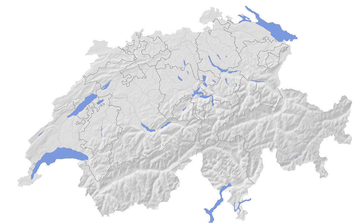 List Of Mountains Of Switzerland Wikipedia - Switzerland map