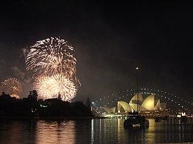 Célébration de la Saint - Sylvestre 2005 à Sydney.