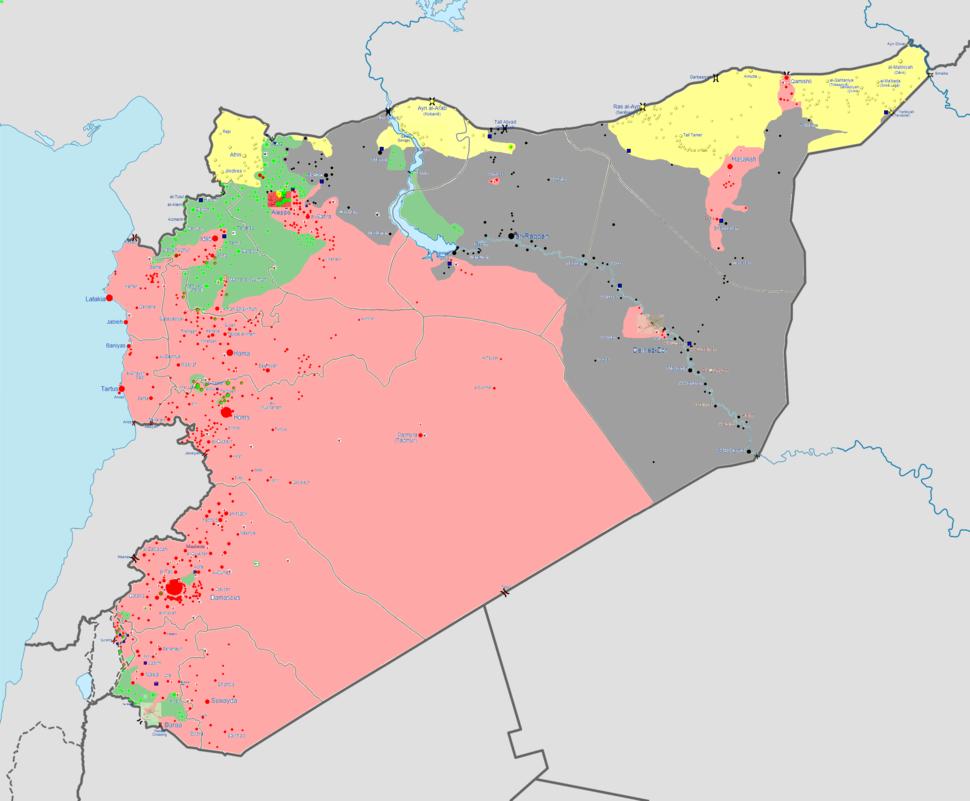 Syrian war map 17 8 14