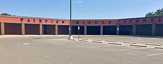 Williamson County Schools - The front of Fairview Middle School in Fairview, Tennessee