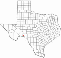 Location of Langtry in Texas