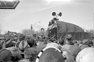 Line 1 Yonge–University - The opening ceremonies for the Yonge Street subway line, March 30, 1954