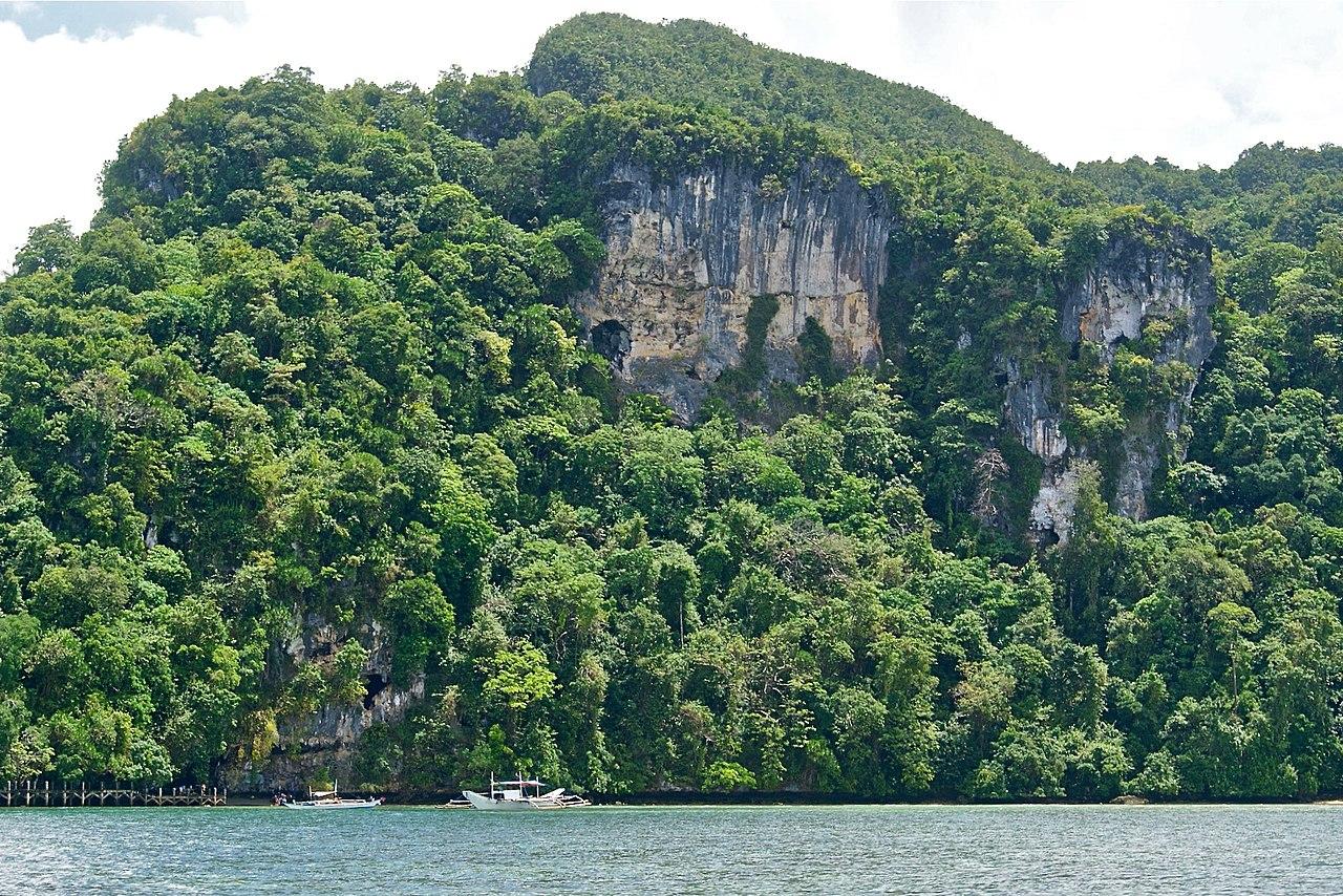 Blick auf die Tabon-Höhlen