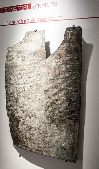 Ligures Baebiani - The Tabula of Ligures Baebiani in the Museo Nazionale Romano