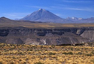 Tacora mountain in Parinacota Province, Chile; geonames ID = 3868151